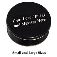 Custom Logo Black Tin