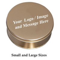 Custom Logo Gold Tin