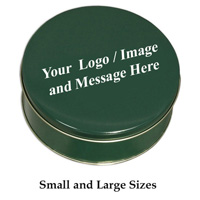 Custom Logo Green Tins