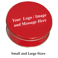 Custom Logo Red Tin