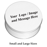 Custom Logo White Tin