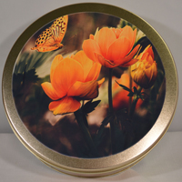 Flower with butterfly Cake Tin