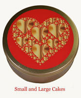 Hearts Tin for Small Cakes