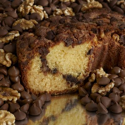 The simplicity of our Cinnamon Walnut Coffee Cake with the taste of chocolate!
