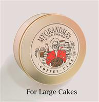 Traditional Gold Tin for Large Cakes