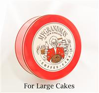 Traditional Red Tin for Large Cakes
